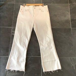 Lucky Brand white crop denim jeans - 8/29